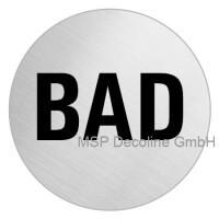 Piktogramm Bad 75mm Rund
