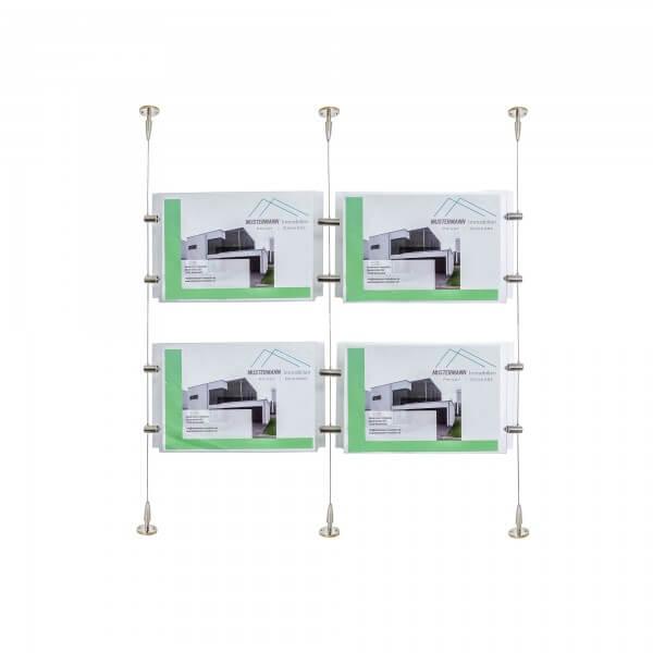 Immobilien Aussteller mit 4 stück Acrylglashüllen