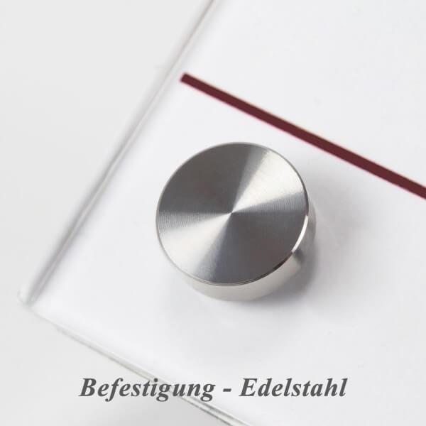 Büroschild PLEXIGLAS® Türschild 180 x 180 mm inkl 2 Befestigungen