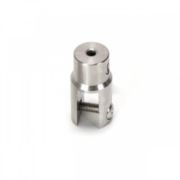 Plattenhalter rund, V2A 12 x 42 mm für PS 1 - 6 mm