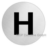 Piktogramm Herren WC 75mm Rund