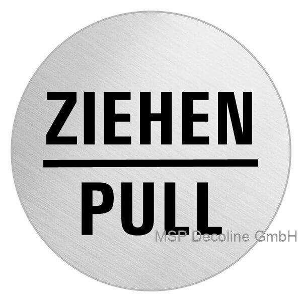 Edelstahl Schild Ziehen Pull