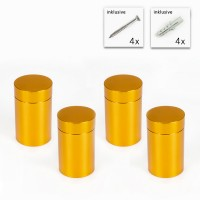 Alu Abstandshalter 19 x 25 mm in Gold - 4er Set
