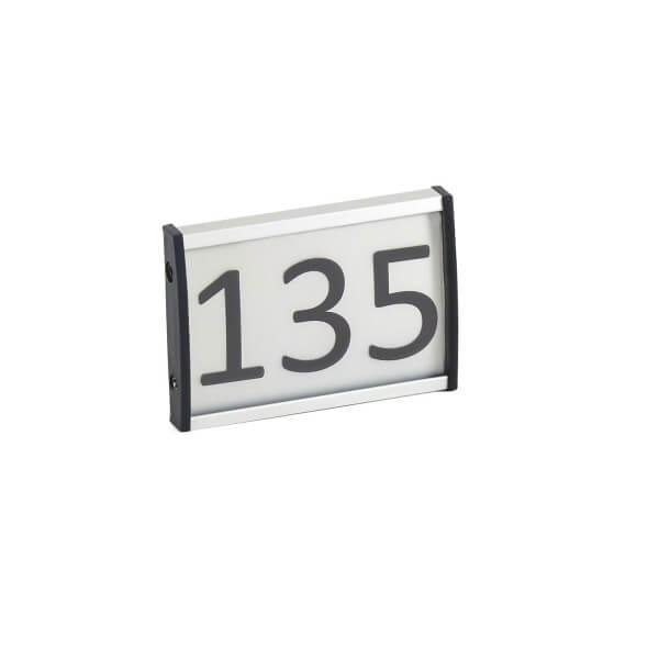 Aluminium Türschild raum 135