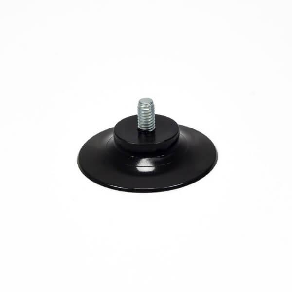 Saugnapf Schwarz 30 mm mit Rändelmutter