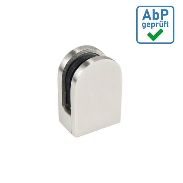 Glas Plattenhalter Edelstahl 36x29 mm für Wandanschluss + Sicherung