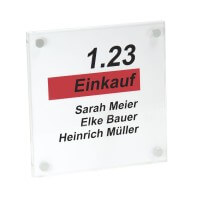 PLEXIGLAS® Büroschild 180 x 180 mm inkl. 4 Befestigungen