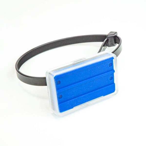 Rohrkennzeichnung Blau 55 x 36 mm