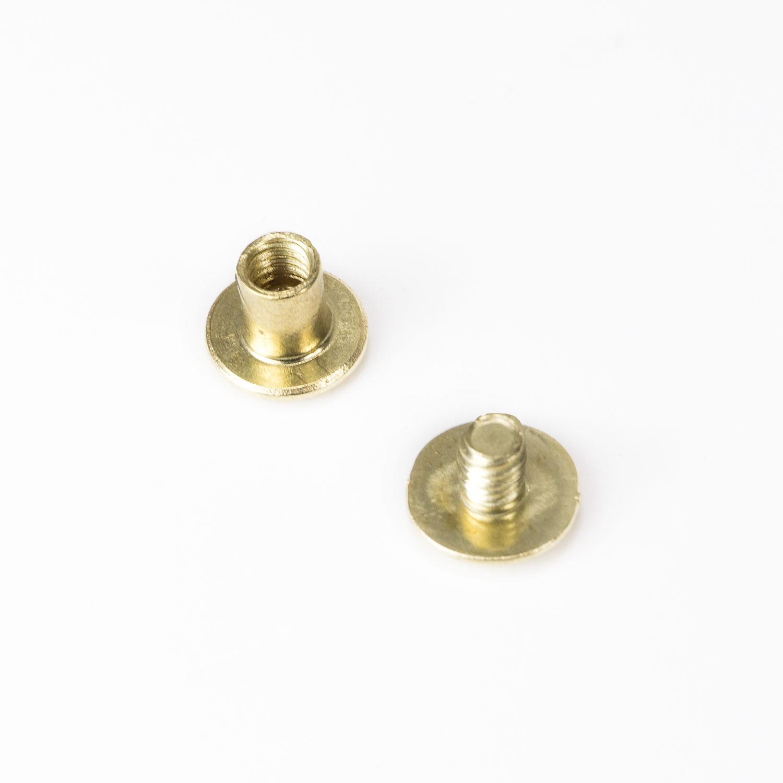 Buchbindeschrauben gold 5 x 10mm für 8mm PS Klemmschraube für Acryglas Schilder