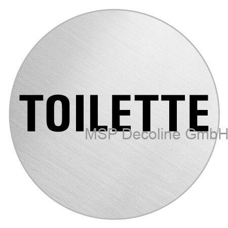 Klebeschild toilette