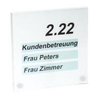 PLEXIGLAS® Türschild 200 x 200 mm inkl. 2 Befestigungen