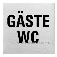 Piktogramm Gäste WC 70x70 mm