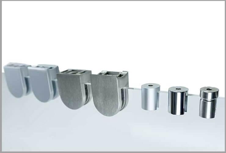 Schlussverkauf Aluminiumbefestigung Abstandshalter Aluminium Wandabstandshalter Befestigung Alu Ladenausstattung & -werbung Werbeartikel & Merchandising