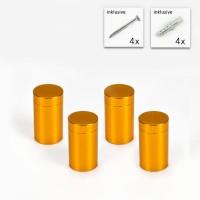 Alu Abstandshalter 13 x 19 mm in Gold - 4er Set