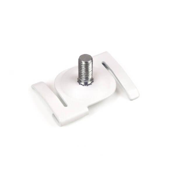 Deckenclip weiß mit Gewinde für Rasterdecke