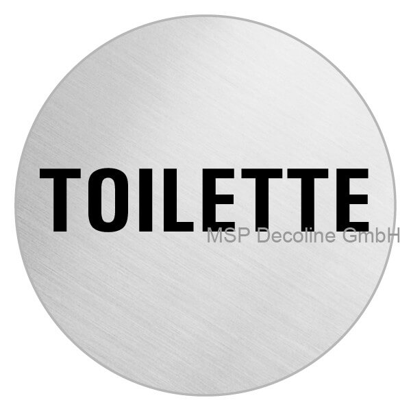 Edelstahl Schild Toilette