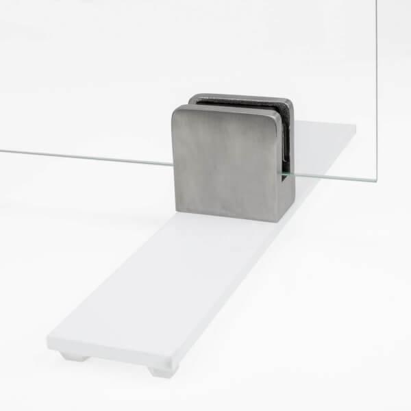 Tischaufsteller Spuckschutz Weiß