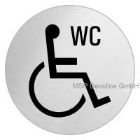 Piktogramm Behinderten WC 100mm Rund