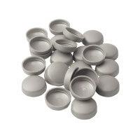 Schrauben Abdeckkappe 13 mm Silber Grau - 25er Pack