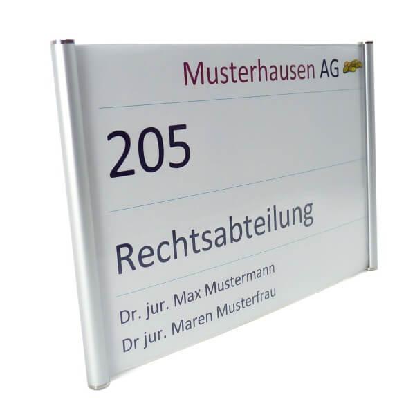 DIN A5 Aluminium Büroschild