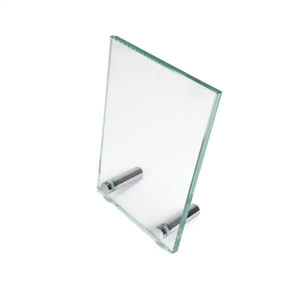 Echtglas Doppelglas Tischaufsteller 100 x 150 mm front