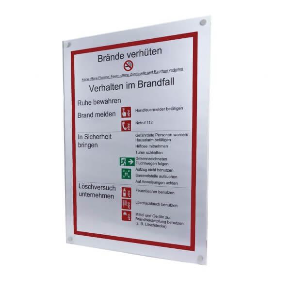 Acrylglas Büroschild 420 x 594 mm DIN A2 inkl. 4 Befestigungen