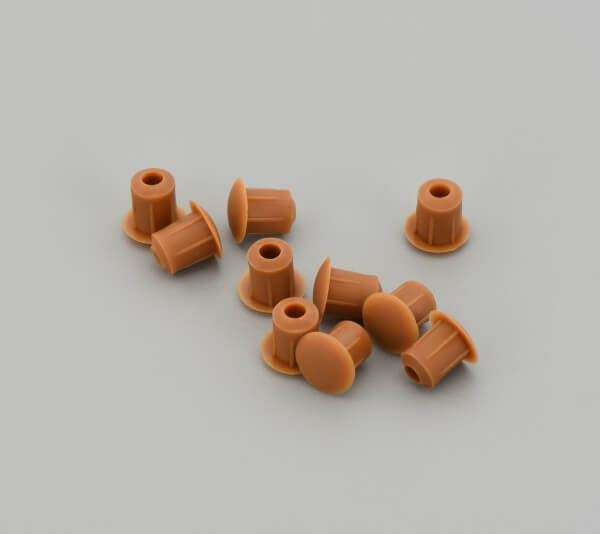 Bohrloch Abdeckkappe 5mm Hellbraun Teak