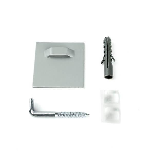 Haftblech Spiegelhalter Set 45 x 45mm