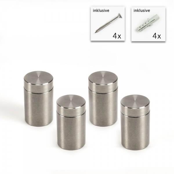 V2A Schraubbare Abstandshalter Set 15 x 20 mm