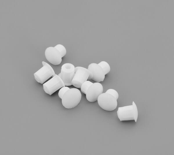 Bohrloch Abdeckkappe 5mm Alt Weiß