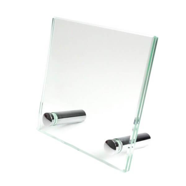 Glas Tischaufsteller 100mm