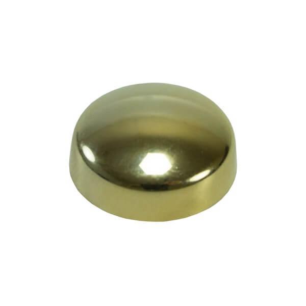 Schraubenkappe gold chrom 16mm