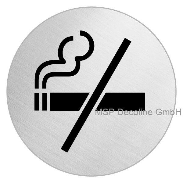 Edelstahl Schild Nicht rauchen