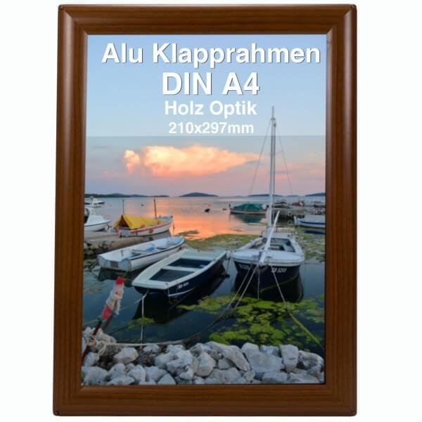 Alu Klapprahmen Holz Design DIN A4