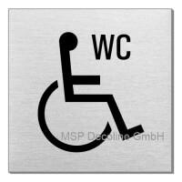 Piktogramm Behinderten WC 70x70 mm
