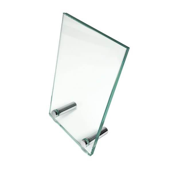 Glas Tischaufsteller