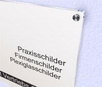 Schild Bedruckt Acrylglas Weiß