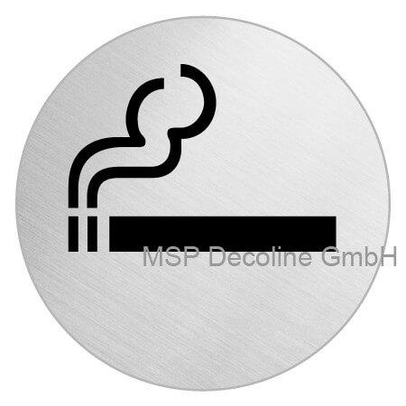 Klebeschild raucherbereich