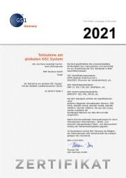GS1 2021 Zertifikiat