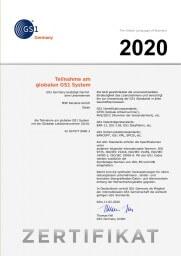 GS1-System Zertifikat