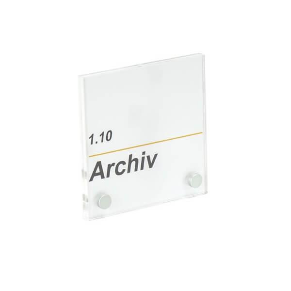 Acrylglas Büroschild 170x100 2 Bohrungen