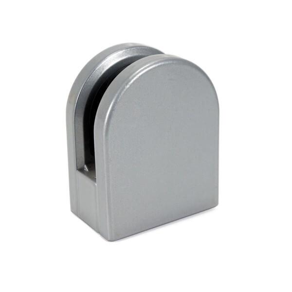 Klemmhalter Silber halbrund für 6-8mm PS in Flach