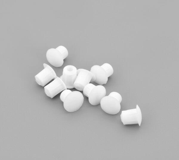 Bohrloch Abdeckkappe 5mm Weiß