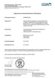 LGA Prüfungszeugnis