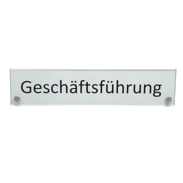 Großes Namensschild Schreibtisch