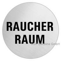Piktogramm Raucherraum 100mm Rund