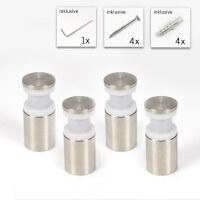 Glasplattenhalter 4er Set für 2 x 4 mm Platten
