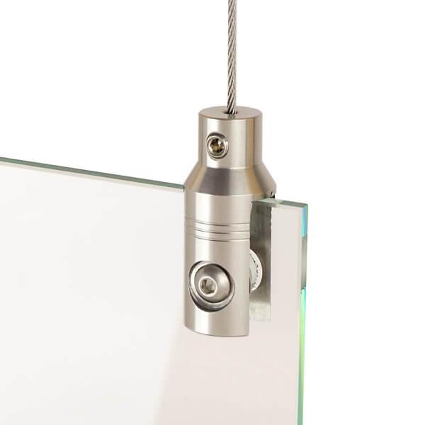 Plattenhalter für Werbeschilder Seilsystem V2A