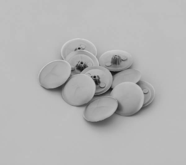 Kreuzschrauben Abdeckkappe Silber Grau