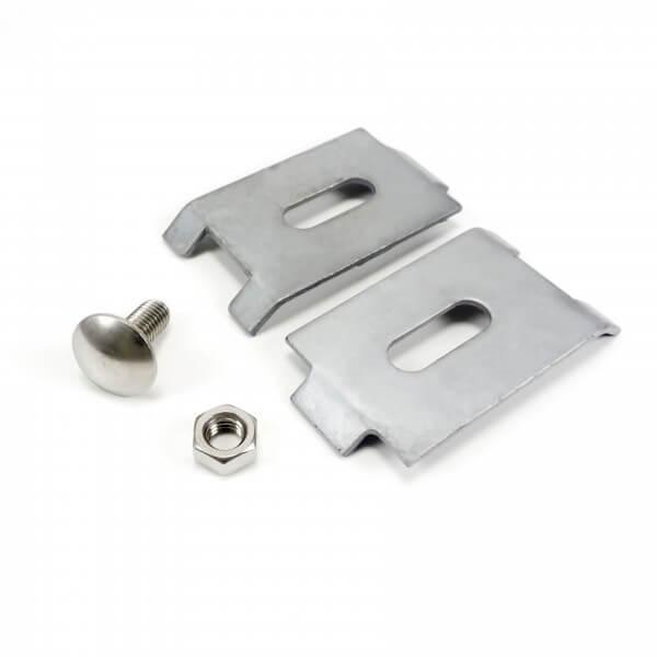 Zaun Schilderhalter verzinkt - Silber 70 x 40 mm